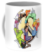 Angels Of Peace Coffee Mug by Sarah Batalka