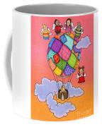Angels With Hot Air Balloon Coffee Mug by Sarah Batalka