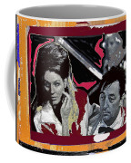 Angie Dickinson Robert Mitchum Pose Collage Young Billy Young Old Tucson Arizona 1968-2013 Coffee Mug