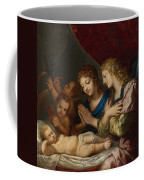 Angles Adoring The Sleeping Christ Coffee Mug