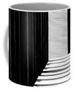 Angles And Shadows - Black And White Coffee Mug