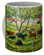 Angus Cows Under The Cool Shade By Prankearts Coffee Mug