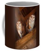 Animal - Bird - A Couple Of Barn Owls Coffee Mug