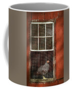 Animal - Bird - Chicken In A Window Coffee Mug