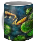 Animal - Fish - The Shy Fish  Coffee Mug by Mike Savad