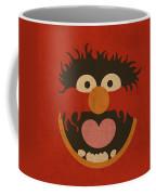 Animal Muppet Vintage Minimalistic Illustration On Worn Distressed Canvas Series No 008 Coffee Mug