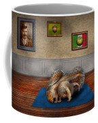 Animal - Squirrel - And Stretch Two Three Four Coffee Mug by Mike Savad