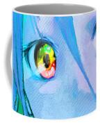 Anime Girl Eyes Blue Coffee Mug