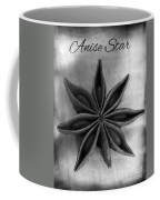 Anise Star Single Text Distressed Black And Wite Coffee Mug
