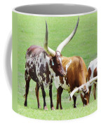 Ankole And Texas Longhorn Cattle Coffee Mug