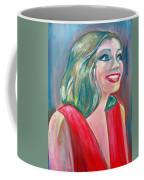 Anne Hathaway In Interview Coffee Mug by Patricia Taylor