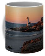 Annisquam Lighthouse At Sunset Coffee Mug