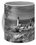Annisquam Lighthouse Black And White Coffee Mug