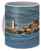 Annisquam Lighthouse From The Beach Coffee Mug