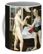 Annunciation Interior With Table Coffee Mug by Caroline Jennings
