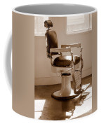 Antiquated Barber Chair In Sepia Coffee Mug