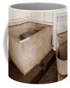 Antiquated Bathtub Washboard And Laundry Tub In Sepia Coffee Mug