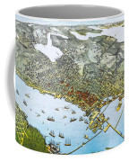 Antique 1891 Seattle Map Coffee Mug by Dan Sproul