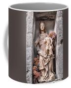 Antique Blessed Virgin Statue Coffee Mug