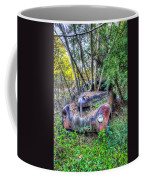 Antique Car With Trees In Windshield Coffee Mug