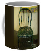 Antique Child's Chair With Quilt Coffee Mug