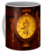Antique Clock At The Bown Palace Hotel Coffee Mug