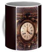 Antique Clock In Sepia Coffee Mug