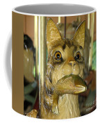 Antique Dentzel Menagerie Carousel Cat With Fish In Rochester New York Coffee Mug