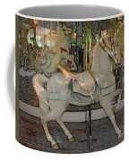 Antique Dentzel Menagerie Carousel Horse Colored Pencil Effect Coffee Mug