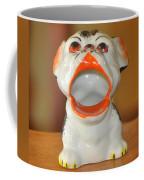 Antique Dog Ashtray Coffee Mug