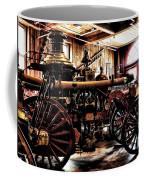 Antique Fire Engine Coffee Mug