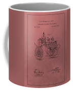 Antique Fire Engine Patent On Red Coffee Mug