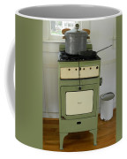 Antique Green Stove And Pressure Cooker Coffee Mug