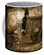 Antique Hearse As Tintype Coffee Mug by Crystal Loppie
