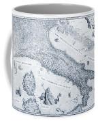 Antique Italy Map 1573 Coffee Mug