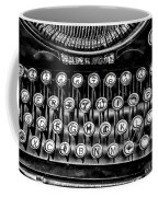 Antique Keyboard - Bw Coffee Mug