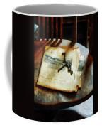 Antique Keys On Newspaper Coffee Mug