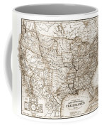 Antique Map 1853 United States Of America Coffee Mug