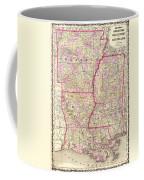 Antique Map Of Arkansas Mississippi And Louisiana Coffee Mug