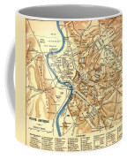 Antique Map Of Rome During Antiquity 1870 Coffee Mug