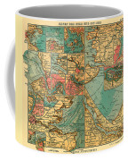 Antique Map Of The Baltic And North Sea Ports  Coffee Mug