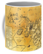 Antique Map Of The Battles Of Lexington And Concord 1775 Coffee Mug