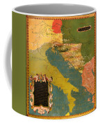 Antique Map Of The Dalmatian Shore 1578 Coffee Mug