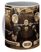 Antique Mercedes Benz In Sepia Coffee Mug