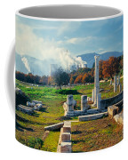 Antique Pillars And Power Plant Megalopoli Greece Coffee Mug