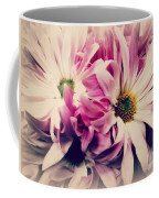 Antique Pink And White Daisies Coffee Mug