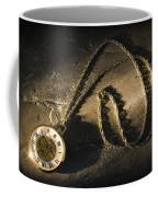 Antique Pocket Watch On Chain Coffee Mug