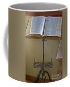 Antique Still Life Reading Stand Coffee Mug