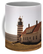 Antique West Quoddy Lighthouse Coffee Mug