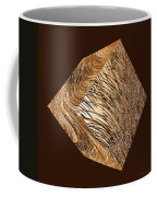 Antique White Gold Abstract Cube Coffee Mug